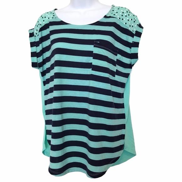 238938386c0da Belle Du Jour Tops | Top Blue Stripes Polka Dot Nautical | Poshmark
